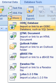 Access 2007 (32-Bit) Link to Oracle Database Using Microsoft ODBC